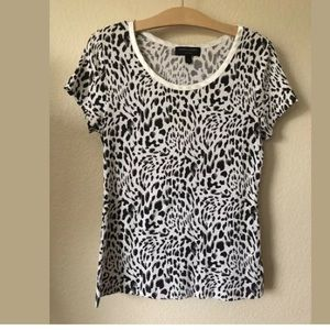 Banana Republic Luxe Touch Leopard Animal Top S